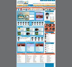 SkillPod.com games portal screenshot.