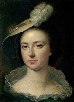 Hannah Wright (1732–1810), in a Feather Hat (sister of the artist) Joseph Wright of Derby (1734–1797) (after) Derby Museum and Art Gallery