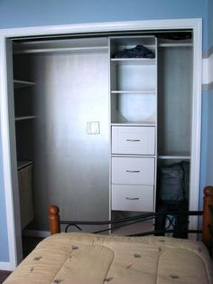 Girls' closets...JUST what I was thinking with these kits and putting in our own side shelving as well. $89