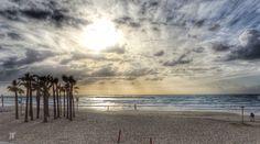 Sunset in Tel Aviv.