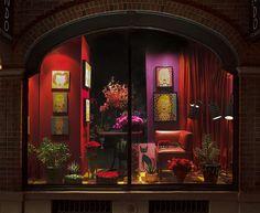 gorgeous! the shop window of a flower shop