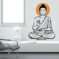 vinyl wall decal buddha zen head sticker world stickers Wall Stickers Vines, 3d Mirror Wall Stickers, Wall Decor Stickers, Buddha Zen, Buddha Meditation, Vinyl Art, Vinyl Wall Decals, Terrazas Chill Out, Drawing Room Design