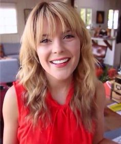 Blonde grace with bangs!