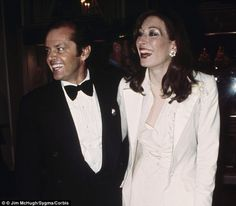 True love? Jack Nicholson and Anjelica Huston were together on-and-of for 17 years. They're seen here at the 1976 Oscars where Jack won Best...
