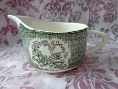 Currier and Ives Old Curiosity Shop Creamer 1950s by ThePearlSwan