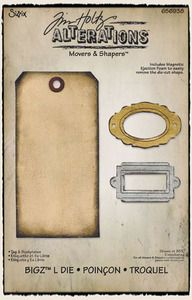 *Tim Holtz Sizzix Die TAG & BOOKPLATES Movers And Shapers 656938