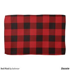Red Plaid Towel