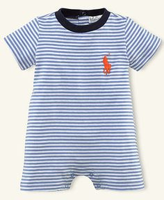 Ralph Lauren Baby Shortall, Baby Boys Striped Shortall - Kids Newborn Shop - Macy's