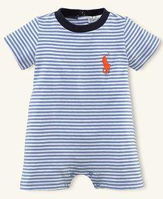 Ralph Lauren Baby Shortall, Baby Boys Striped Shortall - Kids Newborn Shop - Macy's