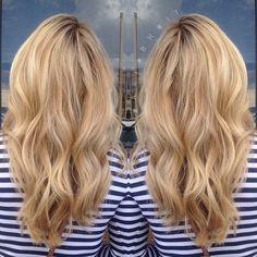 Soft Blonde Balayage Highlights #Blonde #Balayage