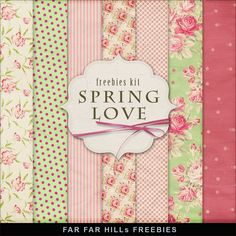 Nueva Freebies Kit de Fondos - Amor de la primavera
