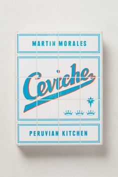 Cool book cover and editorial design, Ceviche - anthropologie.com
