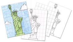 Art Projects for Kids: FREE Statue of Liberty Drawing Guide.
