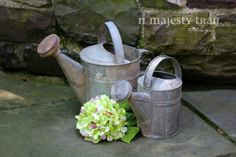 Large Watering Can Metal 10 Quart. Vintage. by NorthMajestyTrail, $35.00