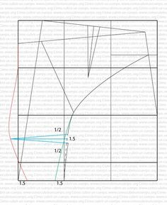 Slip base hombre tela elástica: Forma de trazar el patrón base del slip de caballero para tela elástica