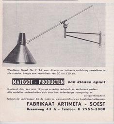 Artimeta Soest yellow wall lamp, Floris FIEDELDJI - 1950s