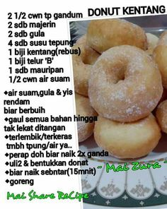 Resepi Donut Kentang Guna Sukatan Cawan