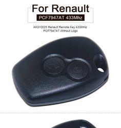 AK010025 Remote Key Fob 2 Button 433MHz PCF7947 for Renault Kangoo II Clio III