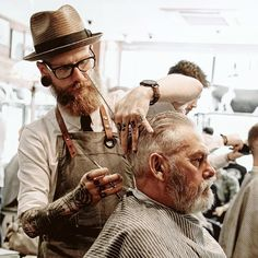 asifthisisme:  Neil Tomlinson of Savills Barbers for Dr Martens shot by Dominic Gregory.