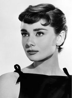 Audrey Hepburn in a promotional photo for Sabrina (1954).