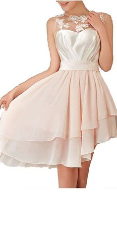 130.00$  Watch here - http://vibfr.justgood.pw/vig/item.php?t=c5kku7y49110 - Cream Lace Short High Low Layered Bridesmaid Dresses Graduation Dresses(US 10)