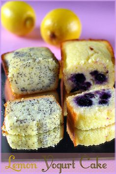 lemon yogurt cake-just made the poppyseed version of this so I'm repinning to verify that it is amazing...recipe is simple and the bread tastes great.