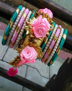 We ship all over the world. Also Available punjabi jutti, gota mehndi jewelry n bangles in more colours and designs . For order and… Silk Thread Bangles Design, Silk Bangles, Silk Thread Necklace, Bridal Bangles, Thread Jewellery, Tassel Jewelry, Fabric Jewelry, Bridal Jewelry, Flower Jewelry