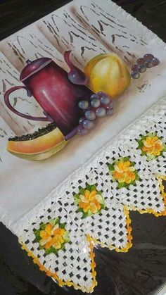 Crochet Doily Patterns, Crochet Doilies, Fabric Painting, Watercolor Paintings, Margarita, Quilling, Still Life, Magnolias, Rugs