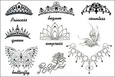 Yimei 2012 Hitting Sexy Designed Tattoo Sticker for Women (Crowns and Jeweled Necklace) waterproof:Amazon:Beauty