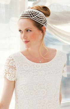 This Wedding Headdress is beautiful (I don't like the hair though!) and there is a free pattern!