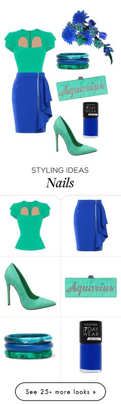 """""""Aquarius"""" by prettyfashionist on Polyvore featuring Dinosaur Designs, ALBA, Roland Mouret and Boutique Moschino"""