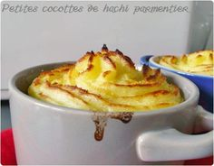 hachi parmentier en mini cocottes Mini Cocotte Recipe, French Dishes, 20 Min, Savoury Dishes, Potato Recipes, Entrees, French Toast, Potatoes, Pudding
