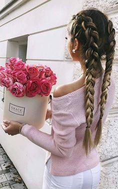 #winter #fashion //  Pink Off Shoulder Knit // White Skinny Jeans