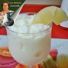 Receta: Sorbete tropical de piña Juice Smoothie, Smoothies, Salsa Dulce, Food N, Canapes, Churros, Mousse, Mojito, Glass Of Milk
