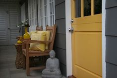 Want to Paint my house gray with a yellow door! PLEASE Jeremy!!