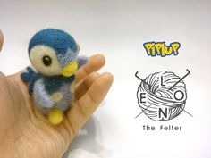 Piplup Needle felt Pokemon by LeonTheFelter on Etsy