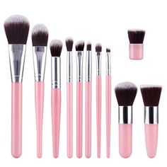 Stylish 11 Pcs Soft Nylon Face Eye Lip Makeup Brushes Set #jewelry, #women, #men, #hats, #watches, #belts