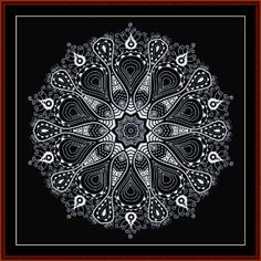 Cross Stitch Collectibles - Detail1 - FR-529 - Fractal 529 - Abstract - All cross stitch patterns - Fractals - Graphic Art - Black and White - Cross Stitch Collectibles