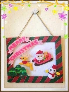 ハンドメイド:クリスマス壁掛け