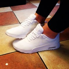 White Nike Air Max Thea #Nike #White #Fresh #AirMax #NikeAirMax