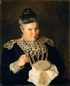 WILLIAM McGREGOR PAXTON William_McGregor_Paxton,_Portrait_of_the_Artist's_Mother_(Rose_Paxton),_1902