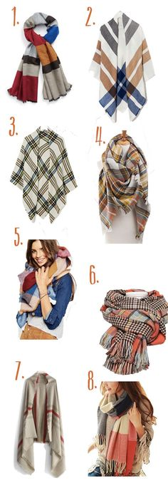 Style Guide:  Must Have Blanket Scarves For Fall - All Under $35!