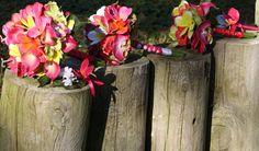 Plumeria Bouquet 7 piece Set Frangipani by SilkFlowersByJean, $399.00