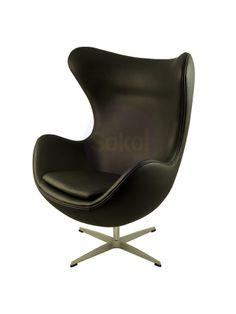 Replica Arne Jacobsen Egg Chair - Italian Leather