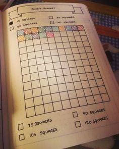 My crochet WIP progress tracker page in my Leuchtturm 1917 bullet journal :)