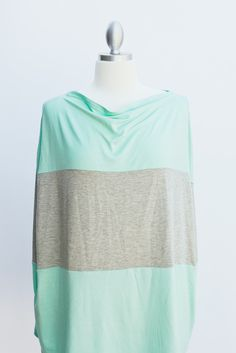Mint & Grey nursing cover