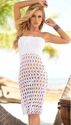 Handmade Crochet Dress - Skirt