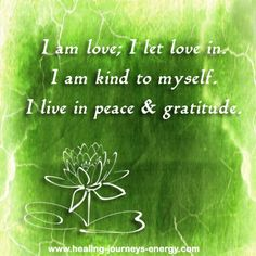 Heart Chakra Affirmation... your thoughts create your reality and by practicing your chakra balancing affirmations on a regular basis you will start seeing amazing results in your life.