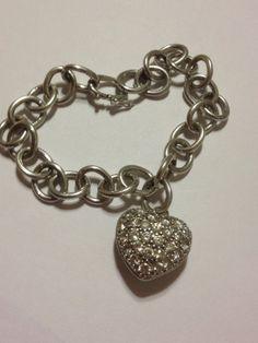 Italian Sterling Charm Bracelet 925 Silver Vintage by BargainBitz, $48.00