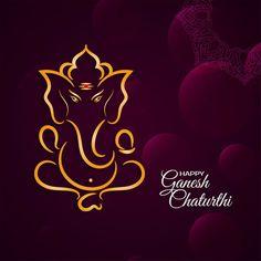 Bright Background, Background Banner, Geometric Background, Background Patterns, Ganesh Chaturthi Greetings, Happy Ganesh Chaturthi, Free Vector Graphics, Vector Art, Flower Decoration For Ganpati